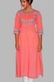 women pink kurti