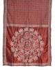 Hand Stitch Burgundy Silk saree