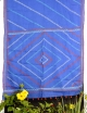 Blue Hand Stitch Saree