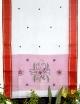 Women white cotton embroidery saree