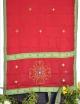 women red cotton saree