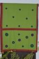 Women light green cutwork hand stitch cotton saree
