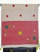 Women Beige, Light Red cotton embroidery saree
