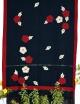 Women black cotton cutwork embrodery saree
