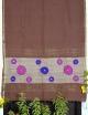 Women coffee cotton embroidery saree