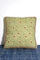 Light green hand stitch cushion cover