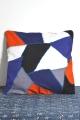 Multi hand stitch cushion cover