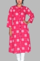 New Exclusive Pink Color Embroidered Long Kurti For Stylish Women