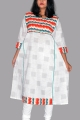 New Exclusive White Color Embroidered Long Kurti For Stylish Women