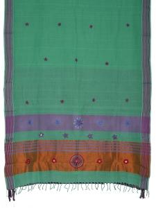 Women embroidery cotton saree