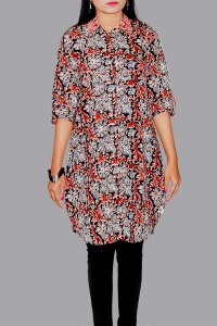 New Exclusive Multi Color Embroidered Long Kurti For Women