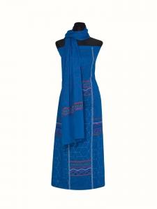 Hand stitched Blue color Unstitch Slawer-Kamiz