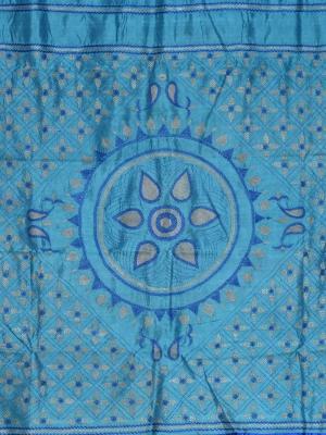 Hand Stitch Firoza Silk saree