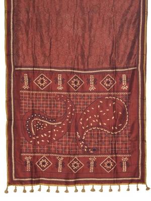 Hand Stitch Silk saree