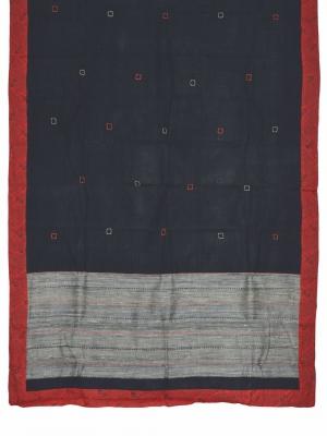 Women Hand Stitch Saree cotton