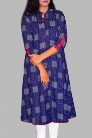 New Exclusive Multi Color Embroidered Long Kurti For Stylish Women