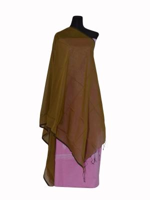 New Design Grey Color Half silk Orna Collection For Women