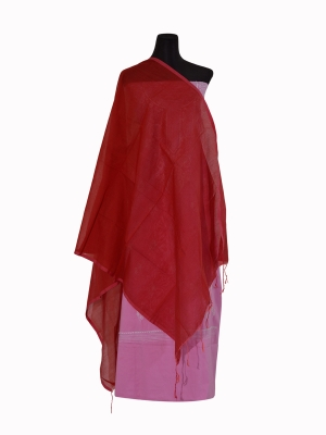 New Design Red Color Half silk Orna Collection For Women