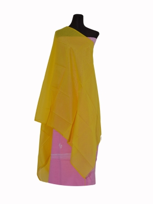 New Design Yellow Color Half silk Orna Collection For Women